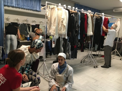 Costumes at the boy's changing room